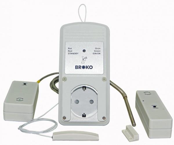 BL220FAT(SG)-System best. aus Empfänger mit ext. Antenne, Fenstersender und Temperatursensor, DIBt