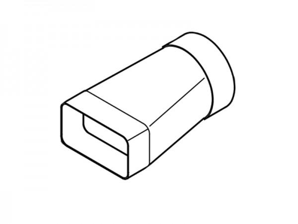 AirTec NW 125 Übergangsstück auf 125 mm rund