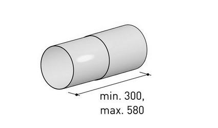 BERBEL Abluft 150 Teleskop- Rundrohr