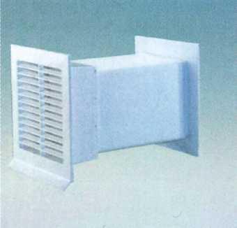 Ab- und Zuluft-Mauerkasten 150 grau