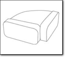 FALMEC Flachkanal Horizontalbogen 220 x 90