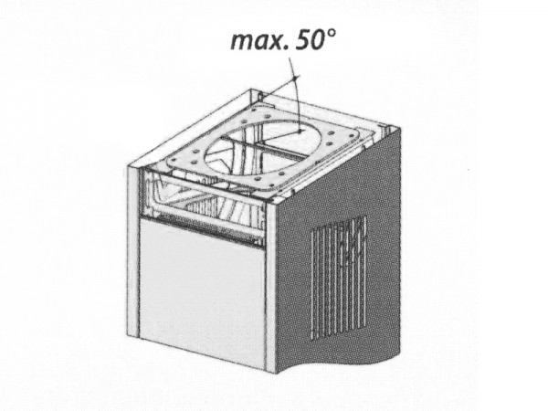 BERBEL Winkelverstellbare Deckenkonsole inkl. Verkleidung vorne/hinten