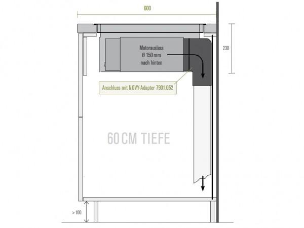Adapter für 60 cm tiefe Arbeitsplatten