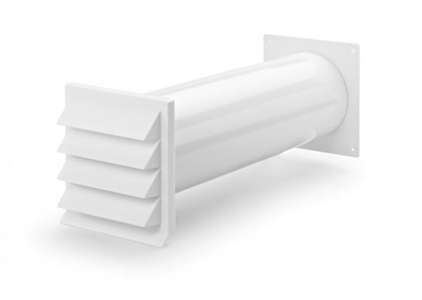 Naber mauerkasten 150 weiß inkl. rückstauklappe abluft