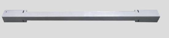 ZUB Abstandsleiste 60 cm, Edelstahl, Tiefe 42/62 mm