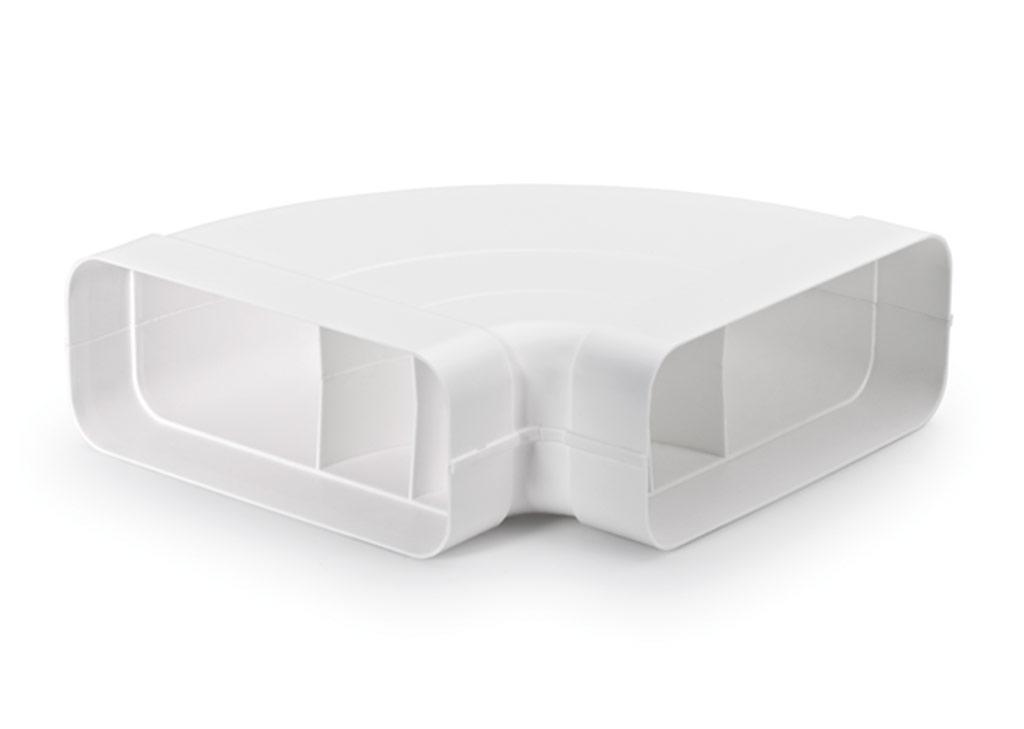 Naber compair®flow 150 rohrbogen horizontal 90° für flachrohr
