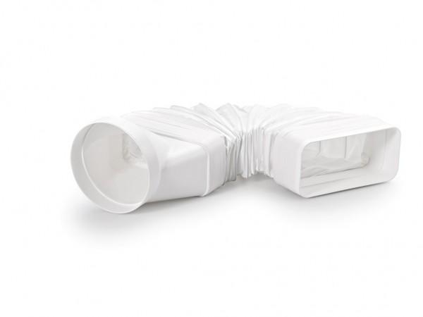 naber flexibler adapter wei f r compair flow 125 flachkanal auf 125 mm rund. Black Bedroom Furniture Sets. Home Design Ideas