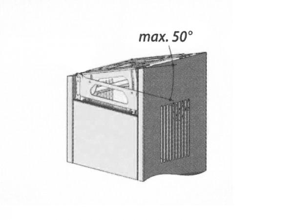 BERBEL Winkelverstellbare Deckenkonsole inkl. Verkleidung links/rechts