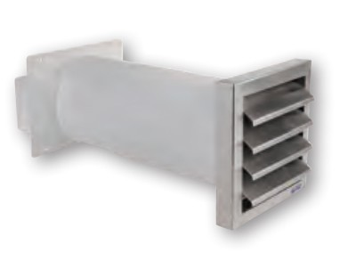 AirTec NW 150 Mauerkasten 165 mm Edelstahl
