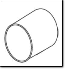 FALMEC Rundrohr Verbinder 150 mm