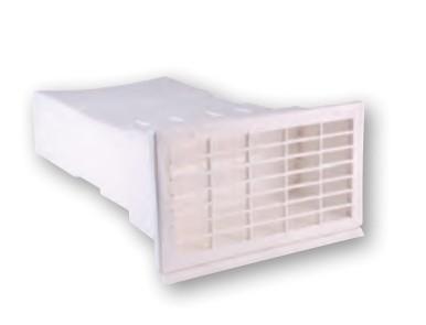 AirTec NW 150 Mauerkasten flach weiß