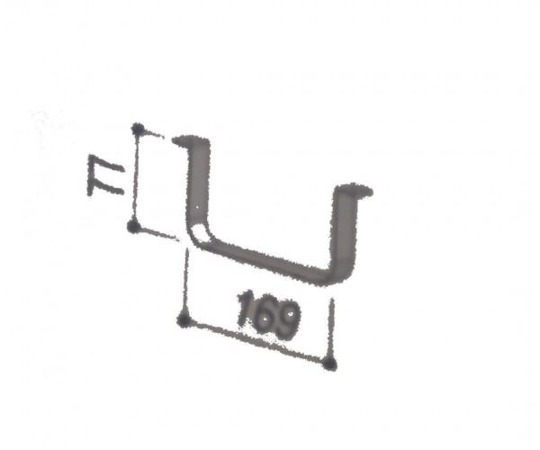 BERBEL Flachkanalhalterung 169x177mm