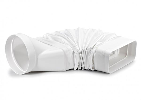 Naber flexibler adapter weiß für compair flow flachkanal auf Ø