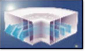 Aero Flachkanal 150 Bogen 90° horizontal