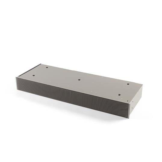 Sockel Umluftbox mit monoblock grau, Höhe 98 mm