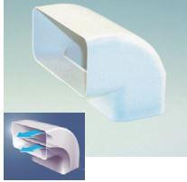 Aero Flachkanal 150 Bogen 90° vertikal, strömungsoptimiert